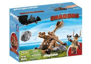 9245 PLAYMOBIL® Dragons, Goberis su katapulta kaina ir informacija | Konstruktoriai ir kaladėlės | pigu.lt