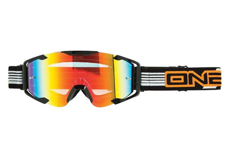 Motokroso akiniai O'neal B2 RL ThreeSixZero, tamsintas stikliukas, juodi