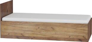 Lova Maximus, 90x200 cm, ruda kaina ir informacija | Lovos | pigu.lt