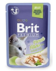 Konservai katėms BRIT PREMIUM Trout in Jelly, 85g