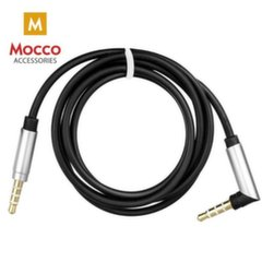 Mocco Premium AUX Cable 3.5 mm -> 3.5 mm 1.2 m / 90 Degrees Connector Black