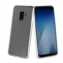 Samsung Galaxy A8 (2018) Bling Cover By Muvit Silver kaina ir informacija | Telefono dėklai | pigu.lt