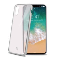 Apple iPhone X cover LASER by Celly Silver kaina ir informacija | Apple iPhone X cover LASER by Celly Silver | pigu.lt