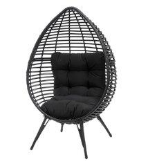 Fotelis Harmaa, juodas kaina ir informacija | Lauko kėdės, foteliai, pufai | pigu.lt