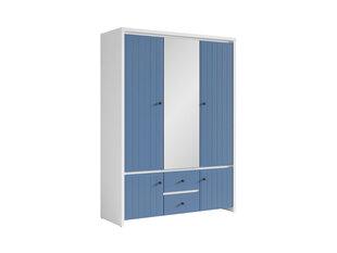 Spinta Karet 5D, balta/tamsiai mėlyna kaina ir informacija | Spintos | pigu.lt