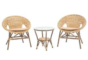 Lauko baldų komplektas Felicia, smėlio spalvos kaina ir informacija | Lauko baldų komplektai | pigu.lt