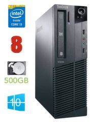 Lenovo ThinkCentre M82 SFF i3-3220 8GB 500GB DVD WIN10Pro