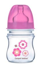 CANPOL buteliukas plataus kaklelio Easy Start Newborn Anti-colic, 120ml, 35/216, pink flowers