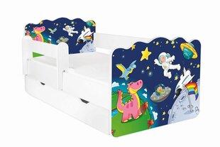 Lova su čiužiniu, patalynės dėže ir nuimama apsauga Alex 33, 160x80 cm kaina ir informacija | Vaikiškos lovos | pigu.lt