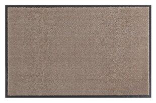 Hanse Home durų kilimėlis Soft & Clean Taupe, 39x58 cm kaina ir informacija | Durų kilimėliai | pigu.lt