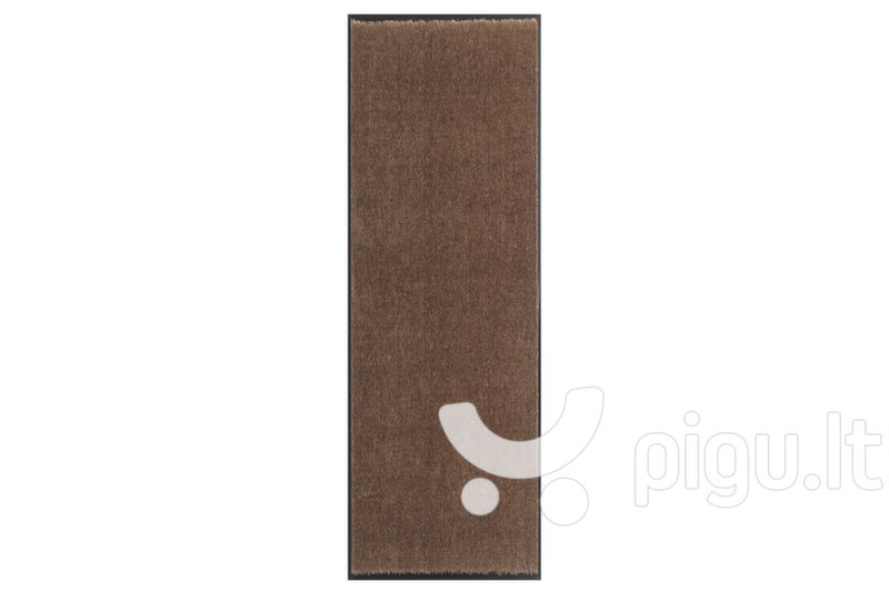 Hanse Home durų kilimėlis Soft & Clean Brown, 58x90 cm