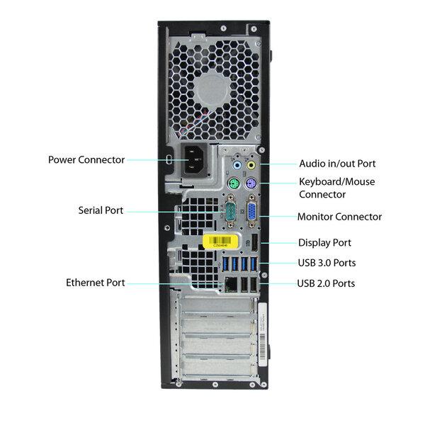HP 8300 Elite SFF i5-3470 8GB 120SSD+1TB DVDRW WIN10Pro