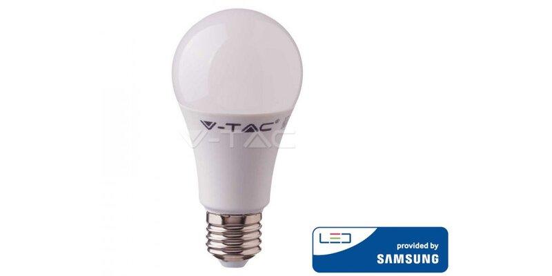 9W LED lemputė V-TAC, A58, E27, 4000K
