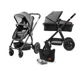 Universalus vežimėlis Kinderkraft VEO 2in1, juoda/pilka