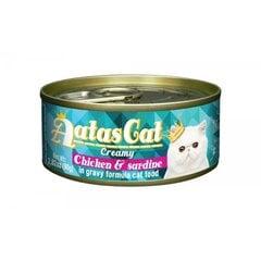 Konservai katėms Aatas CREAMY CHICKEN&SARDINE, 80 g