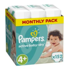 Sauskelnės PAMPERS Active Baby Monthly Box 4+ dydis 152 vnt