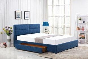 Lova Merida, 160x200 cm, mėlyna kaina ir informacija | Lovos | pigu.lt
