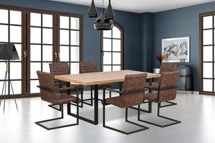 Valgomojo stalas Torres, ąžuolo/juodos spalvos