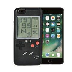 Juodas dėkliukas telefonui su žaidimu Tetris, skirtas Apple iPhone 7PLUS