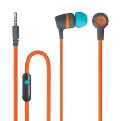 Laidinės ausinės su mikrofonu irvaldymopulteliu Forever JSE-200 Active Music Universal Headset/ 3.5mm / 1.2 m, oranžinės/mėlynos kaina ir informacija | Ausinės, mikrofonai | pigu.lt