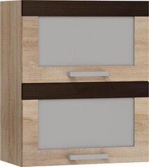 Virtuvinė spintelė Milo W60PZ, ąžuolo/rudos spalvos kaina ir informacija | Virtuvinės spintelės | pigu.lt