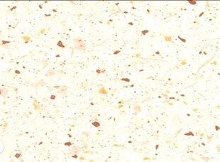 Virtuvinis stalviršis 260 cm, baltas/rudas kaina ir informacija | Virtuvinis stalviršis 260 cm, baltas/rudas | pigu.lt