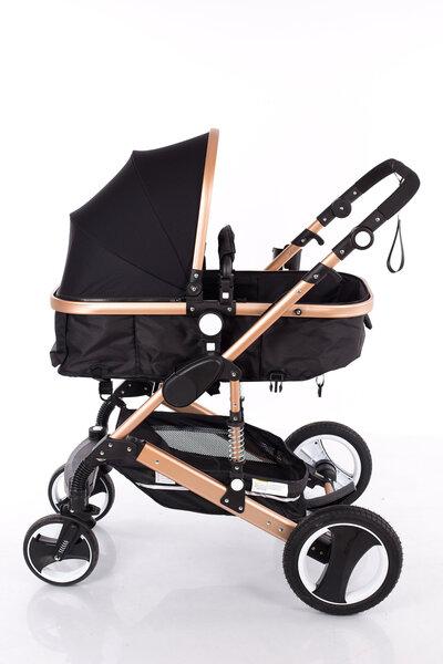 Universalus vežimėlis Louke Kinder, black (su amortizatoriais)