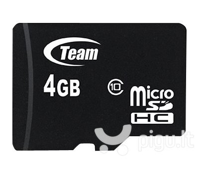 Atminties kortelė Flash Micro-SD 4GB Team C10 1Adp