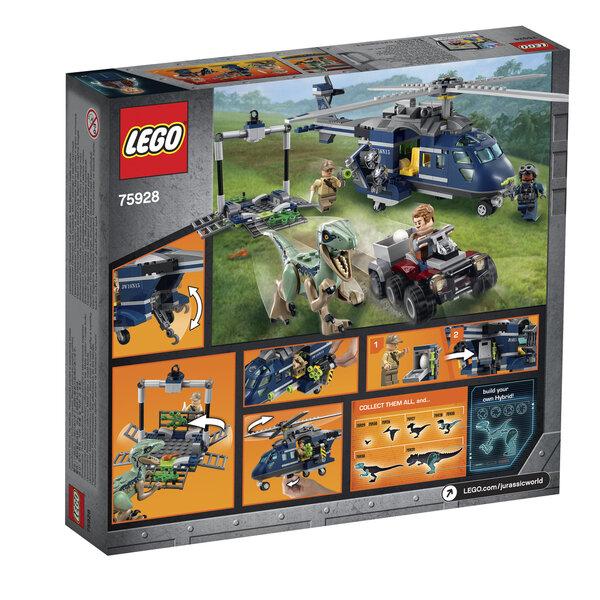 75928 LEGO® JURASSIC WORLD Blue Persekiojimas sraigtasparniu