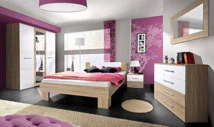 Miegamojo baldų komplektas Vicky 160, ąžuolo/baltos spalvos