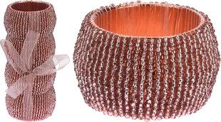 Servetėlių žiedai, 4 vnt kaina ir informacija | Staltiesės, virtuviniai rankšluosčiai | pigu.lt
