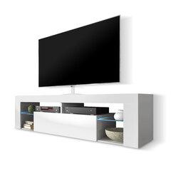 RTV staliukas Hugo, baltas kaina ir informacija | TV staliukai | pigu.lt
