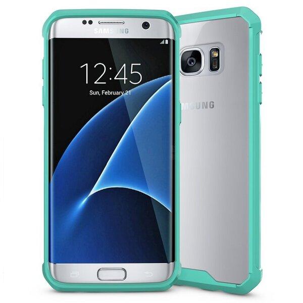 Apsauginė nugarėlė Mocco Hybrid Pro, skirta Samsung G935 Galaxy S7 Edge telefonui, mėtinė