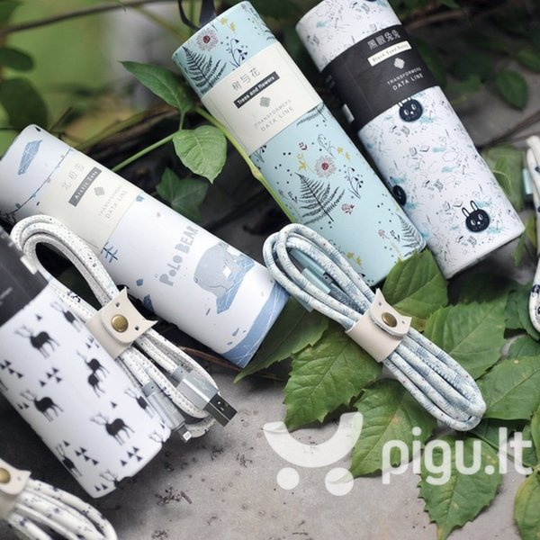 USB laidas Maoxin Xintu Trees And Flowers USB Lightning, 5V 2.4A ,1 m