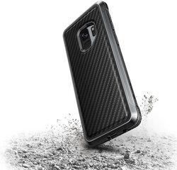 Samsung Galaxy S9+ Defense Lux Carbon Fiber Cover By Xdoria Black