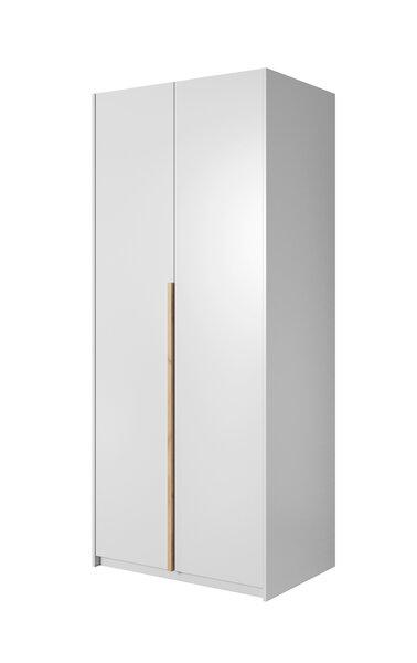 Spinta su rėmu ir LED apšvietimu Xelo 100, balta/balta/ruda