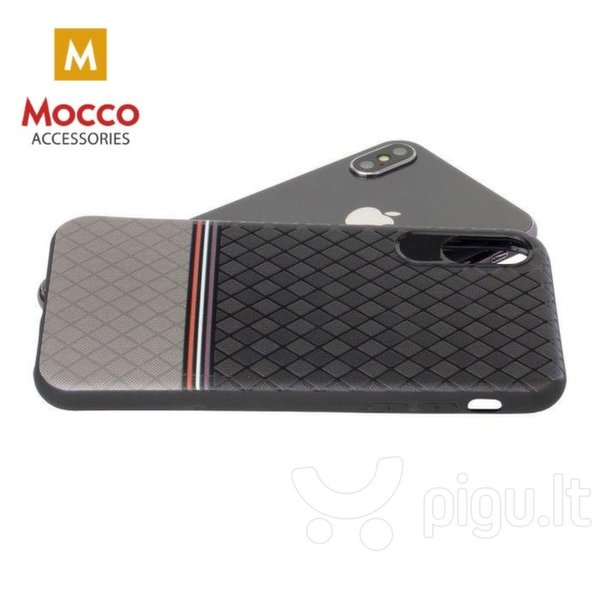Apsauginis dėklas Mocco Trendy Grid And Stripes Silicone Back Case Samsung G950 Galaxy S8 Grey (Pattern 2)