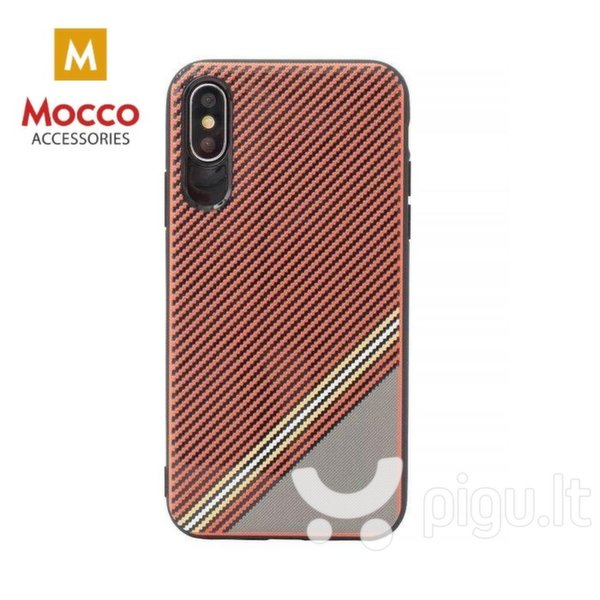 Apsauginis dėklas Mocco Trendy Grid And Stripes Silicone Back Case Samsung G955 Galaxy S8 Plus Red (Pattern 1)