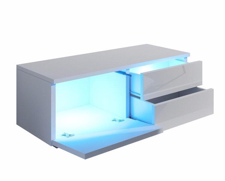 TV staliukas Luv Single (kairė pusė), baltas/pilkas