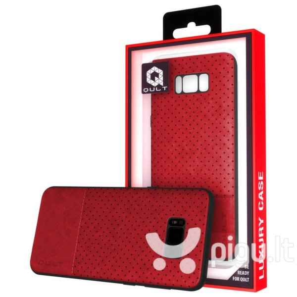 Apsauginis dėklas Qult Luxury Drop Back Case Silicone Case Samsung G960 Galaxy S9 Red