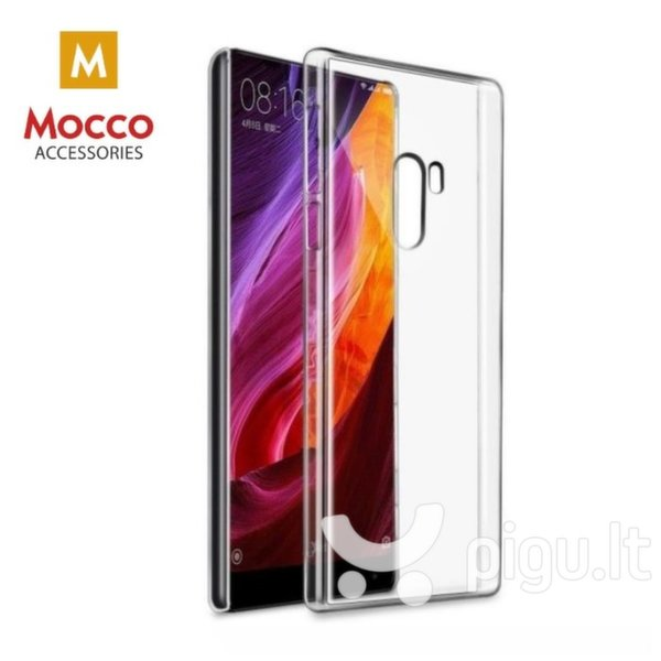 Apsauginis dėklas Mocco Ultra Back Case 0.3 mm Silicone Case Xiaomi Mi Mix 2S Transparent