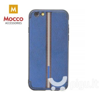 Apsauginis dėklas Mocco Trendy Grid And Stripes Silicone Back Case Apple iPhone X Blue (Pattern 3)