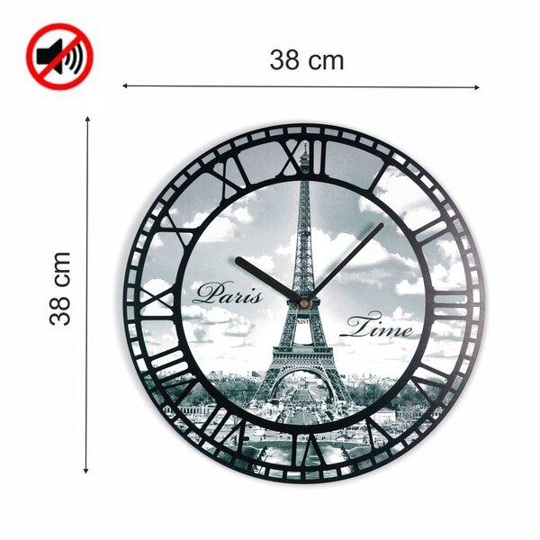 Sieninis laikrodis su spauda Paryžius