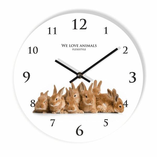 Sieninis laikrodis su spauda Kiškučiai