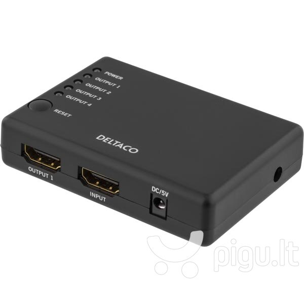 Adapteris DELTACO HDMI 1 IN -> 4 OUT / HDMI-7005
