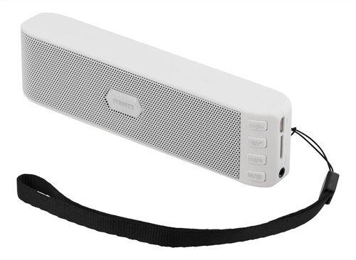 Kolonėlė STREETZ, 2x3W, Bluetooth, FM radio, microSD, balta / CM672