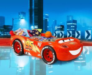 Lova su čiužiniu McQueen ABS, raudona kaina ir informacija | Vaiko kambario baldai | pigu.lt