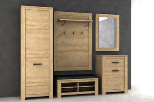 Prieškambario baldų komplektas Havana HVND011L, ąžuolo spalvos kaina ir informacija | Prieškambario baldai | pigu.lt
