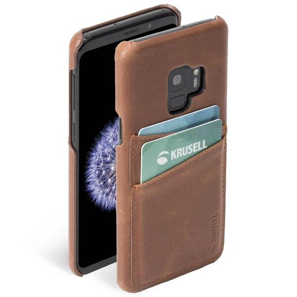 Krusell Sunne 2 Card Cover, skirtas Samsung Galaxy S9, rudas
