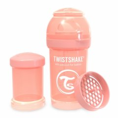 Buteliukas Twistshake Anti-Colic, 180 ml, pastel peach